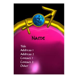 SAGITTARIUS MONOGRAM  pink amethyst blue black Large Business Card