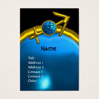 SAGITTARIUS MONOGRAM sapphire blue black yellow Business Card
