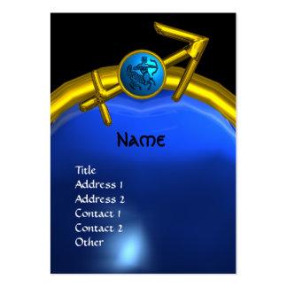 SAGITTARIUS MONOGRAM sapphire blue black yellow Large Business Card