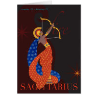Sagittarius Note Stationery Note Card