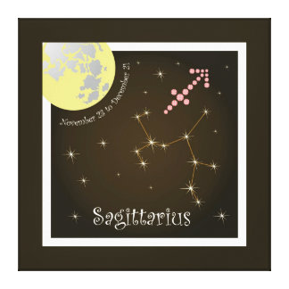 Sagittarius November 23 tons of December 21 canvas Gallery Wrapped Canvas