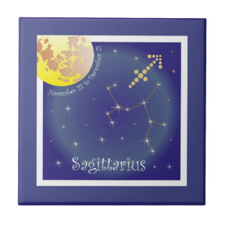 Sagittarius November 23 tons of December 21 photo Ceramic Tile