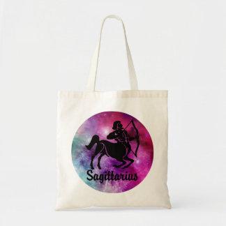 Sagittarius On Space Background Tote Bag