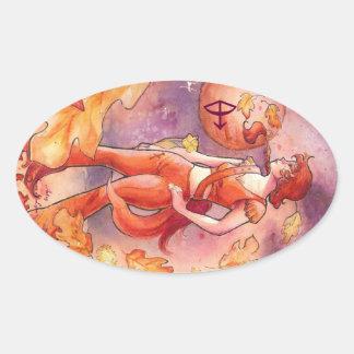 Sagittarius Oval Sticker