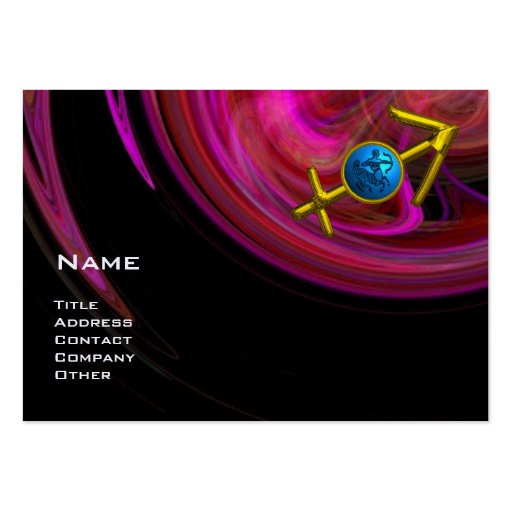 SAGITTARIUS - pink violet purple black red blue Business Card Templates