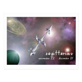 Sagittarius Postage Stamp Postcard