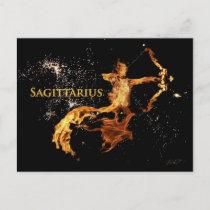 Sagittarius Postcard - Zodiac Symbols Post Cards