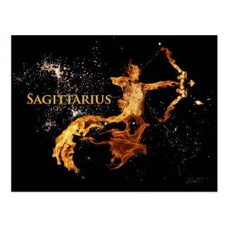 Sagittarius Postcard - Zodiac Symbols