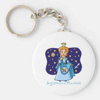 Sagittarius Princess Keychain