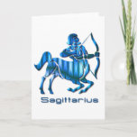 Sagittarius Profile Greeting Card