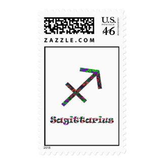 Sagittarius Psychedelic Stamps