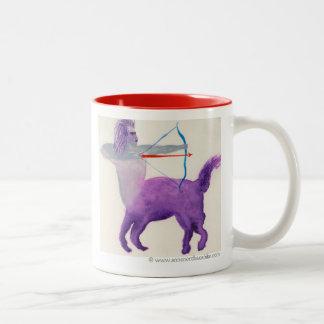 Sagittarius Purple Zodiac Symbol Two-Tone Coffee Mug