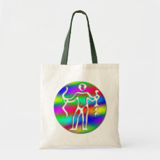 Sagittarius Rainbow Archer Zodiac Crafts Shopping Tote Bag at Zazzle