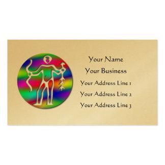 Sagittarius Rainbow Archer Zodiac Gold Bookmark Business Card