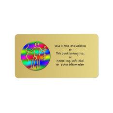 Sagittarius Rainbow Archer Zodiac Name Tag Gift at Zazzle