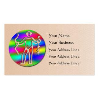 Sagittarius Rainbow Archer Zodiac Star Sign Salmon Business Card
