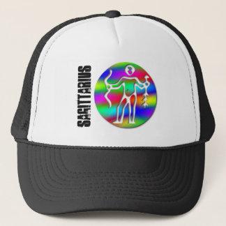 Sagittarius Rainbow Archer Zodiac Star Sign Team Trucker Hat