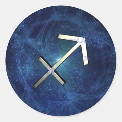 Sagittarius Round Sticker