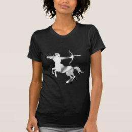 Sagittarius Silver Archer Zodiac T-Shirt