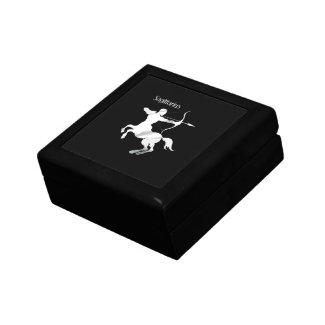 Sagittarius Silver Archer Zodiac Trinket Boxes