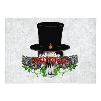 Sagittarius Skull Card