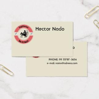 SAGITTARIUS SYMBOL BUSINESS CARD