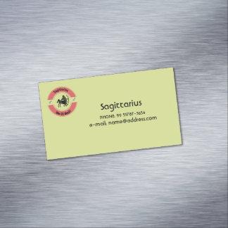 SAGITTARIUS SYMBOL MAGNETIC BUSINESS CARD