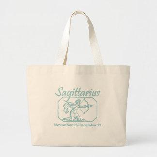 Sagittarius Teal Large Tote Bag