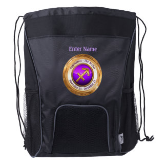 Sagittarius - The Archer Astrological Sign Drawstring Backpack