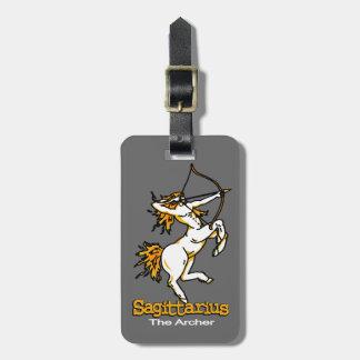 Sagittarius The Archer horoscope id luggage tag