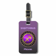 Sagittarius - The Archer Zodiac Symbol Bag Tag
