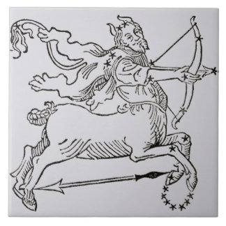 Sagittarius (the Centaur) an illustration from the Ceramic Tile