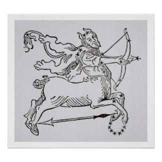 Sagittarius (the Centaur) an illustration from the Poster