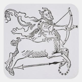Sagittarius (the Centaur) an illustration from the Square Sticker