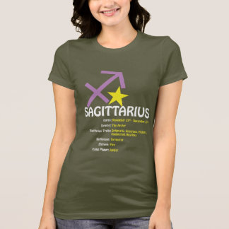 Sagittarius Traits Ladies Dark Petite T-Shirt