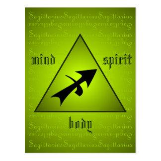 Sagittarius Triangle Mind Body Spirit Holistic Postcard