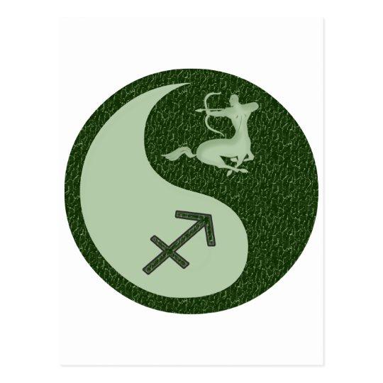 Sagittarius Yin Yang Postcard