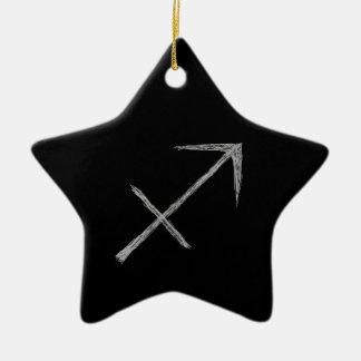 Sagittarius. Zodiac Astrology Sign. Black. Ornaments
