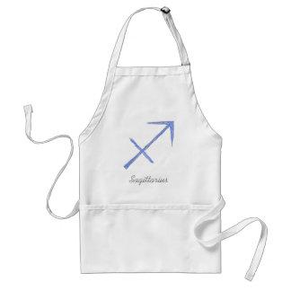Sagittarius. Zodiac Astrology Sign. Blue. Aprons