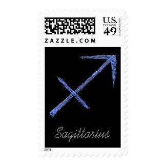 Sagittarius. Zodiac Astrology Sign. Postage