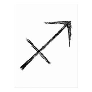 Sagittarius. Zodiac Astrology Sign. Postcard