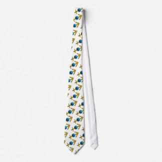 SAGITTARIUS ZODIAC BIRTHDAY JEWEL  Blue Turquoise Neck Tie