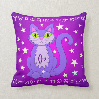 Sagittarius Zodiac Cat Astrology Sign Pillow