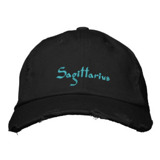 Sagittarius Zodiac Embroidered Cap / Hat Embroidered Baseball Caps