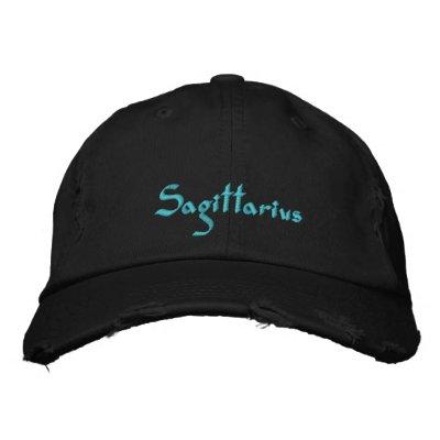 Sagittarius Zodiac Embroidered Cap / Hat Embroidered Baseball Caps