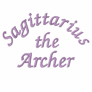 Sagittarius Zodiac Embroidered Pullover Hoodie