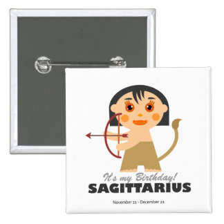 Sagittarius Zodiac for kids Button