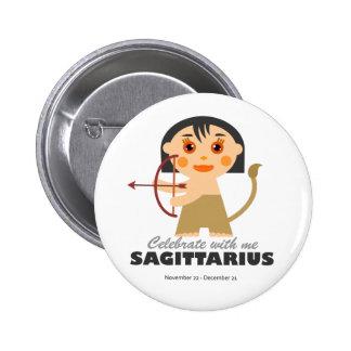 Sagittarius Zodiac for kids Pinback Button