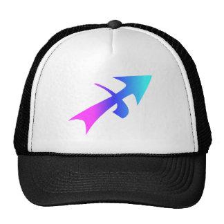 Sagittarius Zodiac Pink Blue Aqua Gradient Trucker Hat