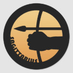 Sagittarius Zodiac Sign Classic Round Sticker